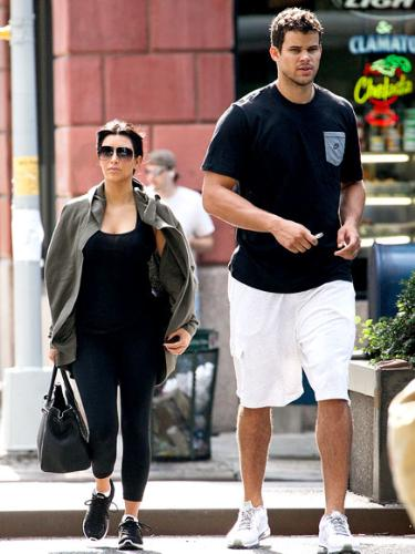 The newylweds - Kim Kardashian and hubby Kris Humphries.