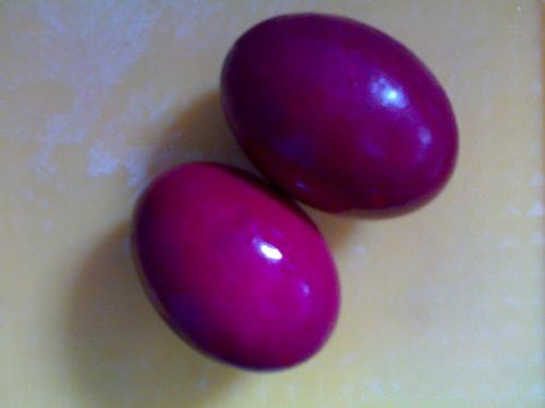 salted eggs or red eggs - This was my viand just days ago, I took a picture of it just for fun;P