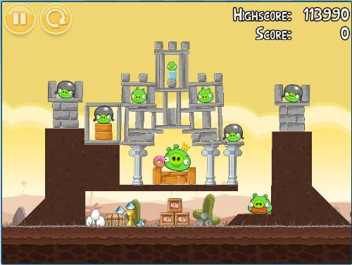 Angry Bird Last Level on Google Chrome - This is the last level of popular game 'Angry Birds' that can be played via Google Chrome Apps. Visit this link to play for free: http://chrome.angrybirds.com/