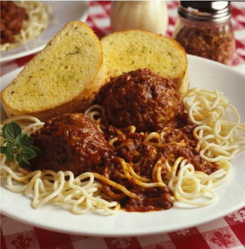 spaghetti - spaghetti with yummy garlic bread