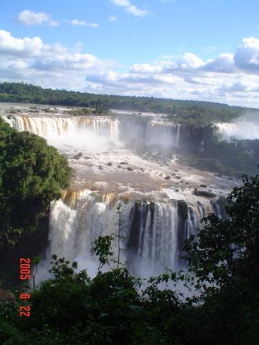 Iguacu Falls at Brasil. - This picture was taken in hte brasilian part of the falls.