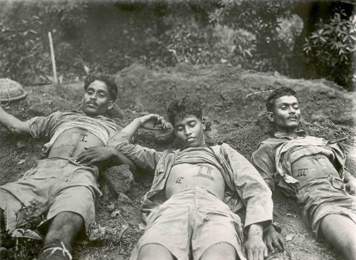 Chittagong attack - Naresh Rai, Tripura Sen and Bidhu Bhattacharyee. I salute them