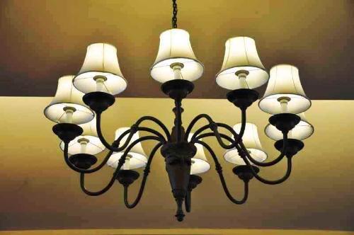 chandeliers - chandelier hanging lifeless in the ceiling