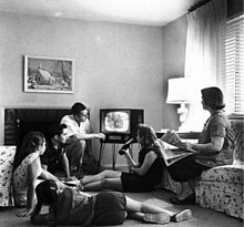 Watching TV - This is what it was like to watch TV in 1958.
