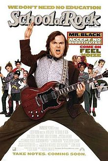 School of Rock - Didn't see the whole movie over the weekend. Need to rent it so I can see it all!