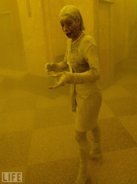 9/11 - This is Marcy Borders on 9/11/2001. She had made it down the 81st floor of the North Tower of the Twin Towers when the photo was taken.