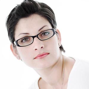 Woman wearing eyeglasses - Eyeglasses