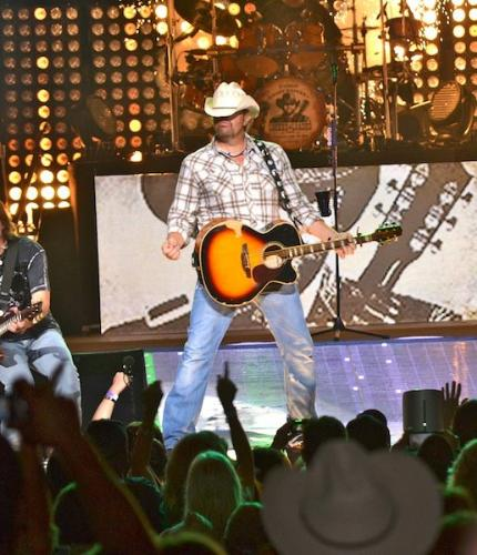 Toby Keith - Toby in concert recently.