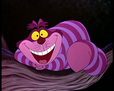 Alice in Wonderland - The Cheshire cat,who liked to become invisiable,from Alice in Wonderland.