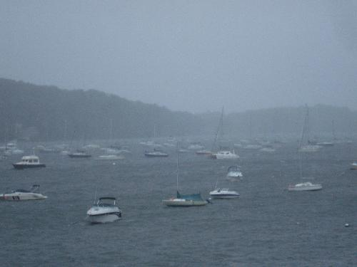 Hurricane Irene - This was taken from my mother-in-laws deck as the hurricane was coming into Northport, N.Y.