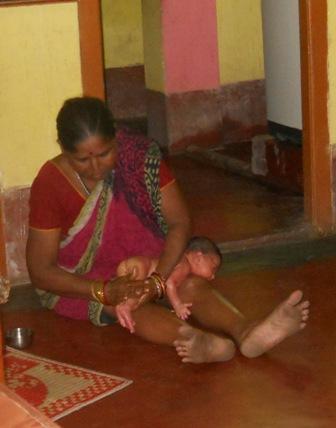 getting a massage - my grandson getting a massage