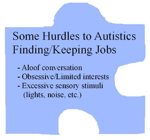 Autism Employment Setbacks - There are factors that make it hard for autistic adults to find and keep their jobs. A busy environment, aloof conversation, and obsessions with interests are a few of them.