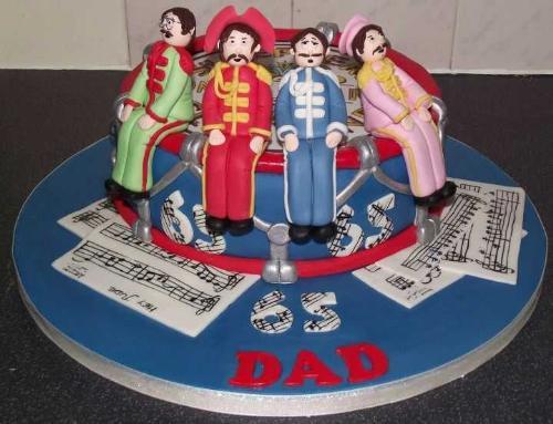 The Beatles Birthday Cake
