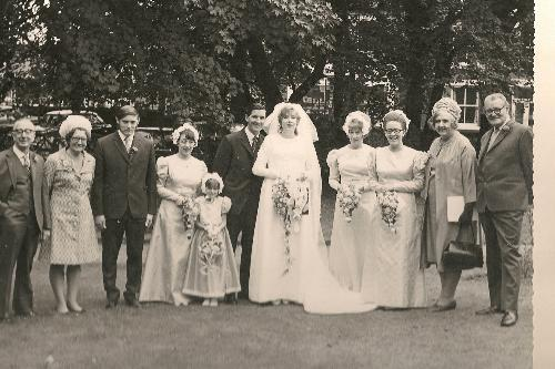 My wedding day in 1971 - My parents and my husbands parents who are no longer with us!