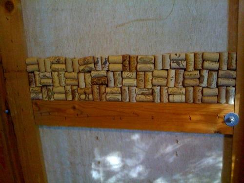 Cork door - in progress - I've done 3 layers