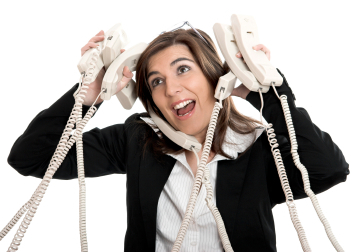 Answering calls - A stressful day in answering calls.