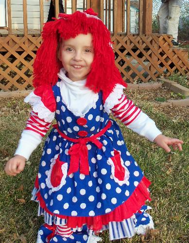 Ragedy Ann  - My grand daughter in her Halloween Costume.