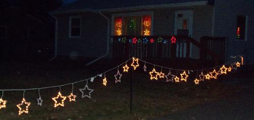 Holiday lights - Almost totally done.