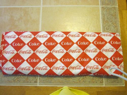 Coke Fabric - bolt of fabric from an auction