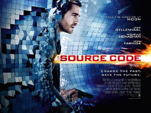 Source Code movie poster. - Source Code is also a Sci-film. One person decided to alter the past and live in there as well.