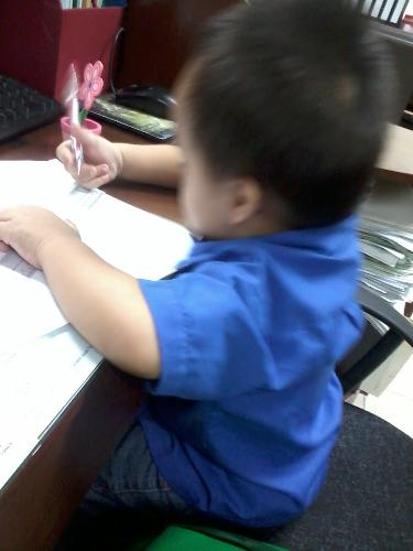"""my son - this is my son who knows how to """"write"""""""