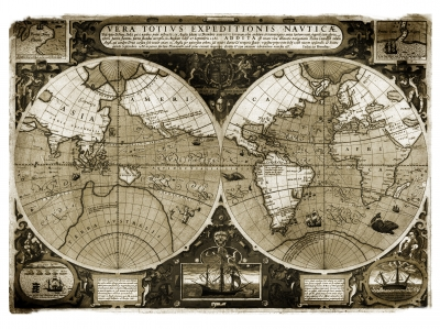 World map by luigi diamanti - The world map showing continents across the globe