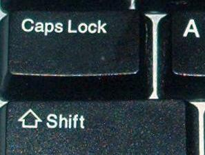Caps lock - Caps lock key