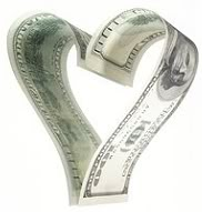 money - This is money in the shape of a heart!