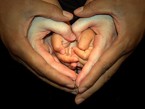 Mommy Daddy and Child hands :P - Well its just a lovely picture you know :D