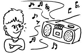 listening to music - music