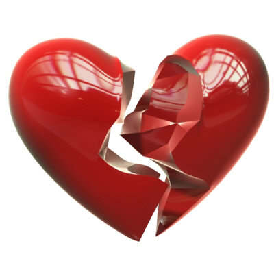 a broken heart - There are many brokenhearted people in the world. God cares about brokenhearted people. We ought to tell them that God wants to mend their broken hearts.