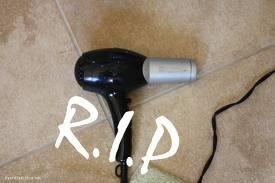 Hair dryer - My broken hair dryer made me so sad.