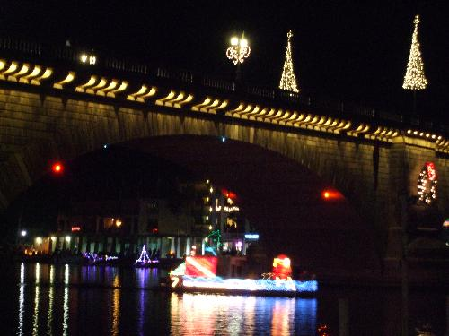 London Bridge and Decorated Boat - I missed out on this years boat parade but here is one from last year. It's really beautiful to see with the London Bridge as a backdrop.