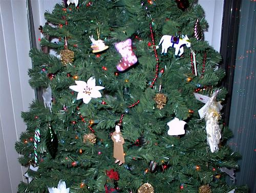 Some of my Christmas Ornaments - Little by little, I have gotten rid of any cheap and unsentimental ornaments and replaced them with those that mean something to me religiously and of happy times and place in my life.