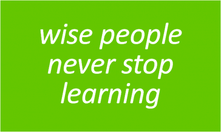 Wise Thinking... - Wise People Never Stop Learning