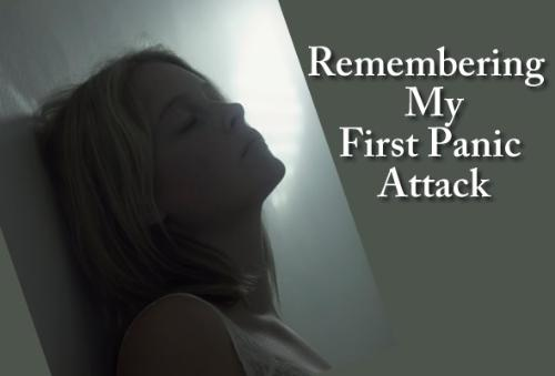 Remembering first panic attack - Woman remembering her first panic attack
