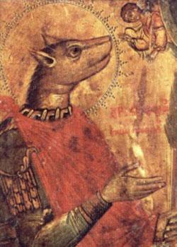 Saint Christopher - Weird saint with a dog head from Eastern Orthodox Church