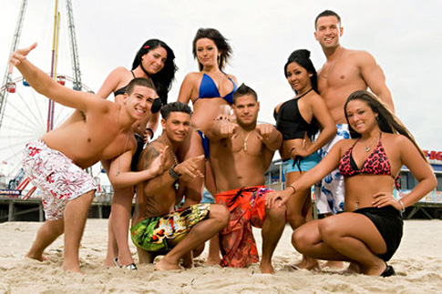 Jersey Shore - an American reality television series that premiered on MTV about peoples lives and partying.