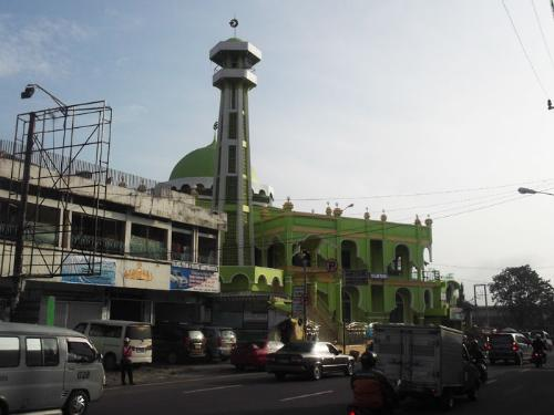 An old mosque in Lampung, Indonesia - This mosque has existed for over5 0 years. There has been many restorations and additions to this mosque. It is situated near Plaza Post and Ramayana Mall.