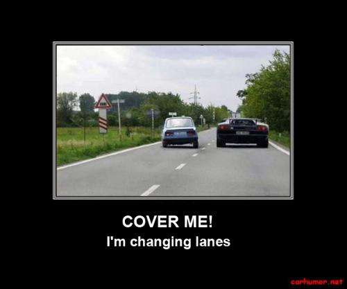 Changing Lanes - We gripe when no one uses the signal light when changing lanes or turning.