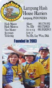 Lampung Hashers - Some members of Hash House Harriers in Lampung, Indonesia