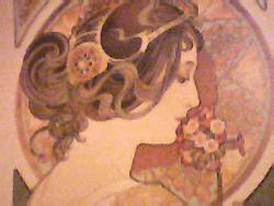 ~*~ - Photograph of a section of a painting...