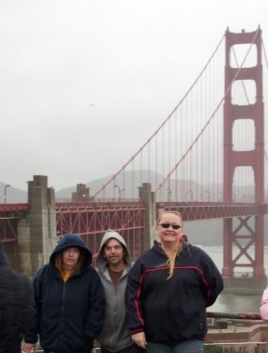 Golden Gate Trip - My sister Holly, Myself jim, and my fiance Jamie Jan. 2012.