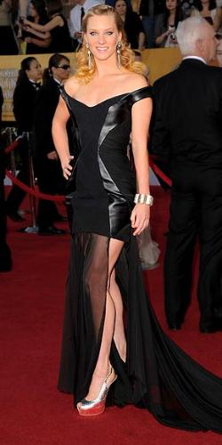 Heather Morris - This dress is a miss! It is hard to explain what is all wrong but I will say it is a disaster!