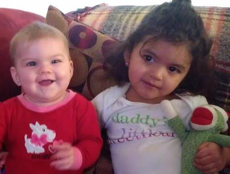 Trinity and Lexi - 2 years and 6 months old. I miss them they are in Ft Riley and I am here in Florida (sniff)