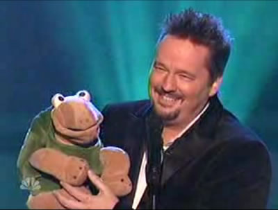 terry fator and winston the impersonating turtle - Terry Fator and Winston in one of their AGT acts
