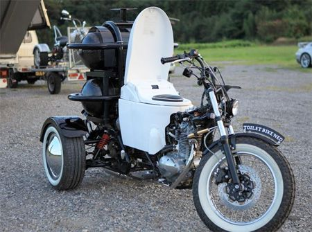 toilet powered motorcycle - this motorcycle runs on human waste, no fuel needed