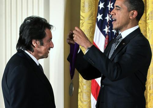 Great Actor - Al Pacino awarding President Obama