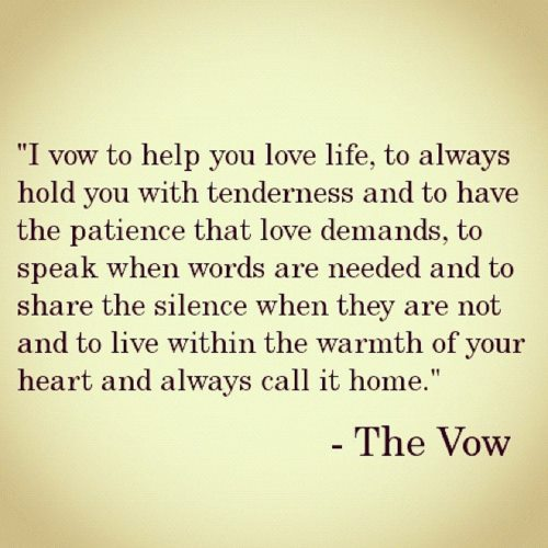 The Vow - A quote in 'The Vow' film! :)