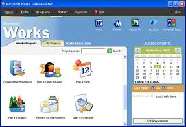 microsoft works - a picture of microsoft works in detail